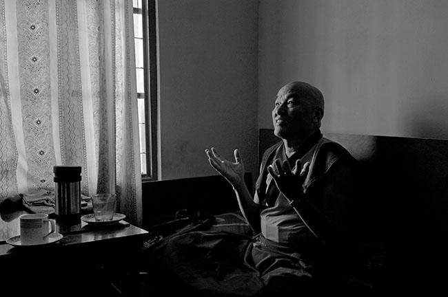 Thupten Wangchen en el Monasterio de Namgyal